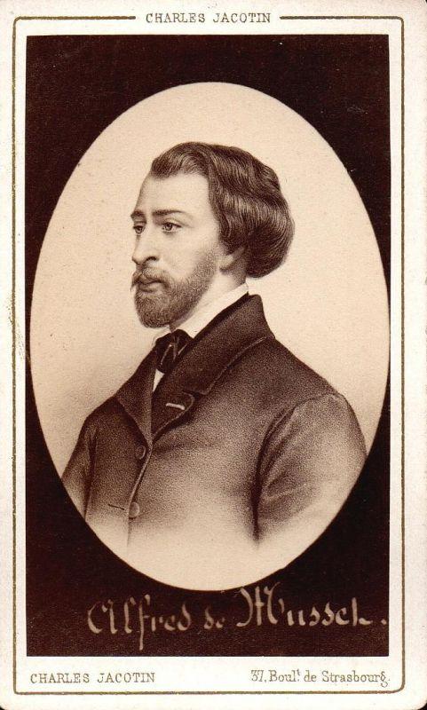 Alfred de Musset (1810-1857) - Schriftsteller writer ecrivain Portrait CDV Foto Photo vintage