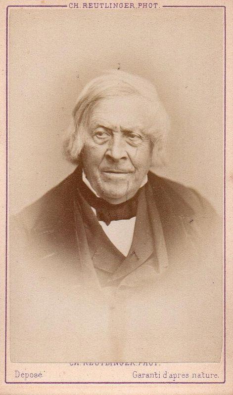 Jules Michelet (1798-1874) - Historiker historian historien Portrait CDV Foto Photo vintage
