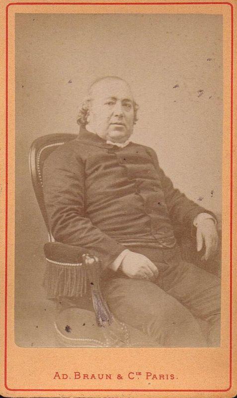 Jules Janin (1804-1874) - Schriftsteller writer ecrivain Portrait CDV Foto Photo vintage