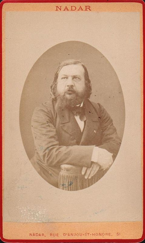 Théophile Gautier (1811-1872) - Schriftsteller writer ecrivain Portrait CDV Foto Photo vintage