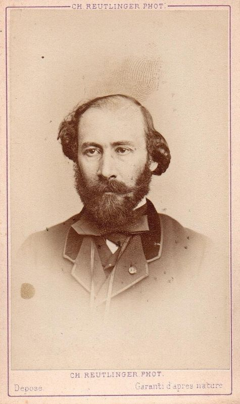 Octave Feuillet (1821-1890) - Schriftsteller writer ecrivain Portrait CDV Foto Photo vintage