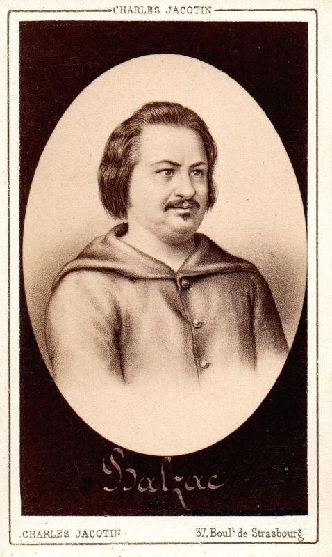 Honore de Balzac (1799-1850) - Schriftsteller writer ecrivain Portrait CDV Foto Photo vintage