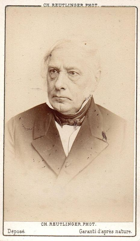 Victor Cousin (1811-1872) - Philosoph philosopher Kulturtheoretiker Portrait CDV Foto Photo vintage