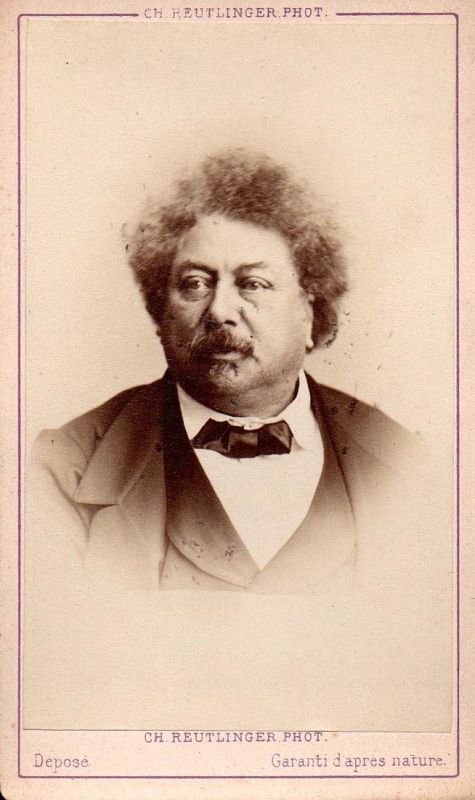 Alexandre Dumas pere (1802-1870) - Schriftsteller writer ecrivain Portrait CDV Foto Photo vintage