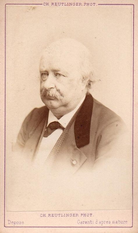 Jules Sandeau (1811-1883) - Schriftsteller writer ecrivain Portrait CDV Foto Photo vintage