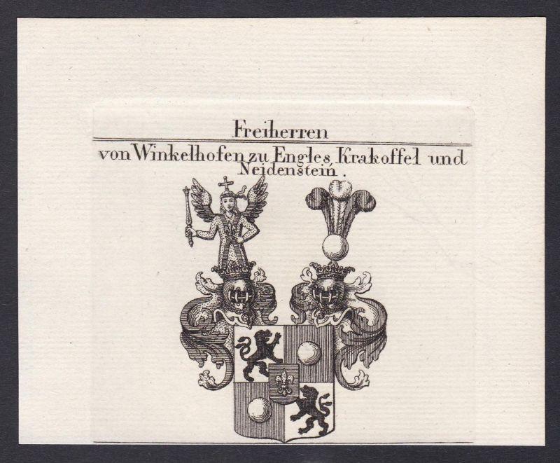 Freiherren von Winkelhofen zu Engles Krakoffel und Neidenstein - Winkelhofen Engles Krakoffel Neidenstein Wapp
