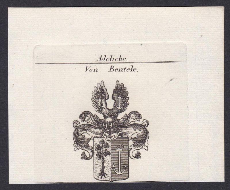 Von Bentele - Bentele Wappen Adel coat of arms heraldry Heraldik Kupferstich antique print