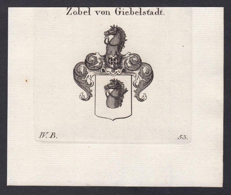 Zobel von Giebelstadt - Zobel Giebelstadt Schwaben Franken Wappen Adel coat of arms heraldry Heraldik Kupferst