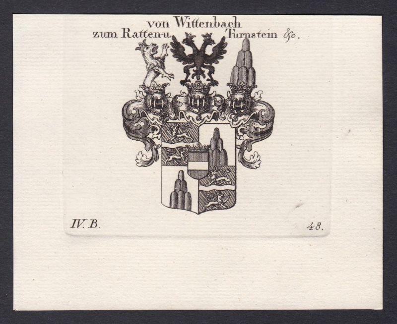 Von Wittenbach zum Ratten- u. Turnstein &c. - Wittenbach Thurnstein Rattenstein Wappen Adel coat of arms heral