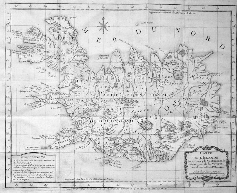 Nouvelle Carte de l'Isle de Java - Java Jawa Indonesia Indonesien Karte map plan Kupferstich antique print
