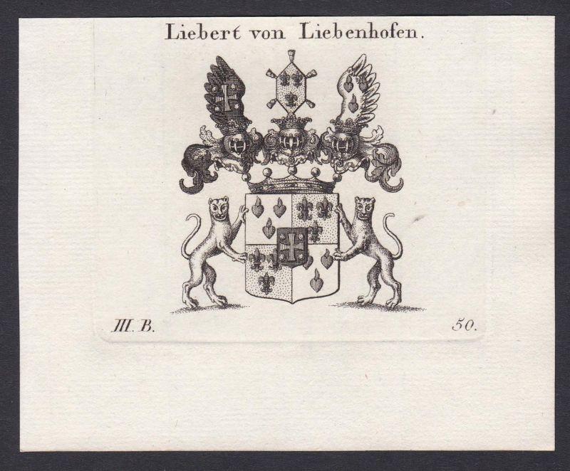 Liebert von Liebenhofen - Johann Adam Liebert Liebenhofen Wappen Adel coat of arms heraldry Heraldik Kupfersti
