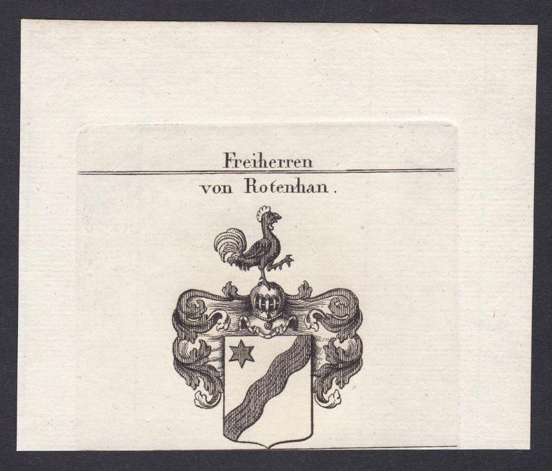 Freiherren von Rotenhan - Rotenhan Rottenhan Franken Wappen Adel coat of arms heraldry Heraldik Kupferstich an
