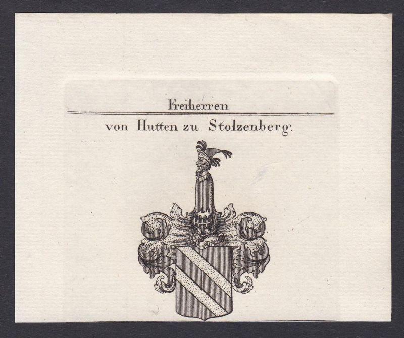Freiherren von Hutten zu Stolzenberg - Hutten Hutten-Stolzenberg Wappen Adel coat of arms heraldry Heraldik Ku