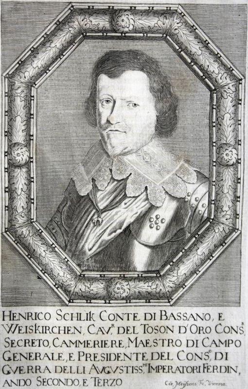 Henrico Schlik conte di Bassano - Heinrich Schlik zu Bassano und Weißkirchen Feldmarschall field marshal Hesse