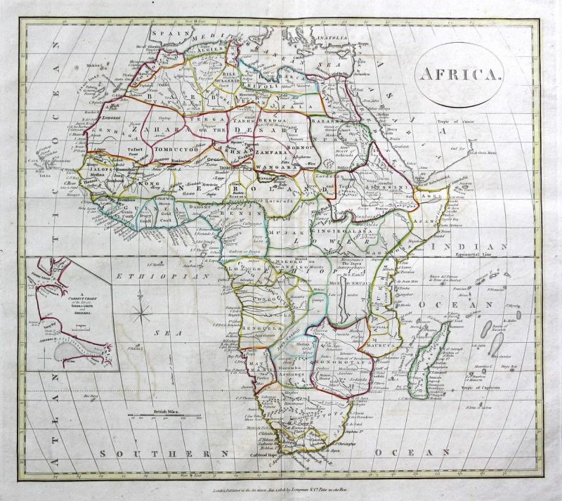 Africa - Afrika Africa Madagaskar Madagascar Ägypten Egypt Algerien Algeria Karte map Kupferstich antique prin