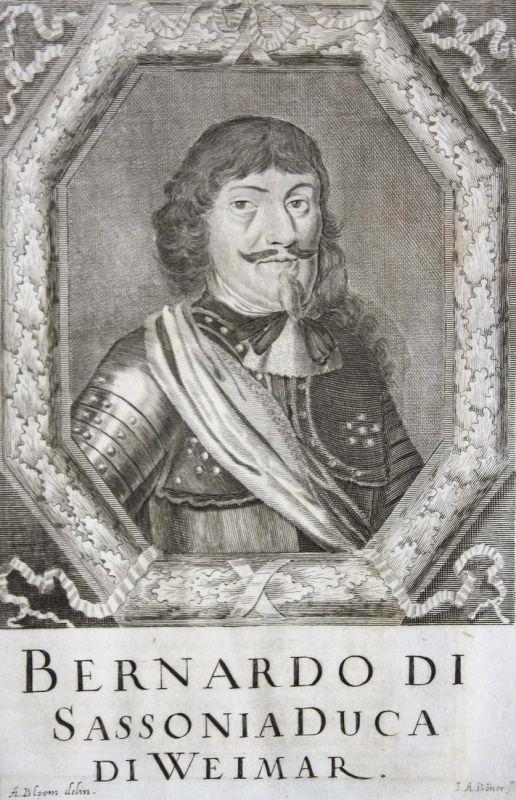 Bernardo di Sassonia duca du Weimar - Bernhard von Sachsen-Weimar Herzog duke Franken Franconia Sachsen Saxony