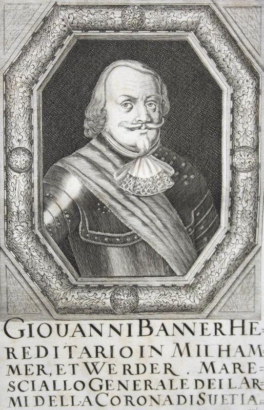 Giovanni Banner - Johan Banér Feldmarschall field marshal Schweden Sweden Sverige Kupferstich