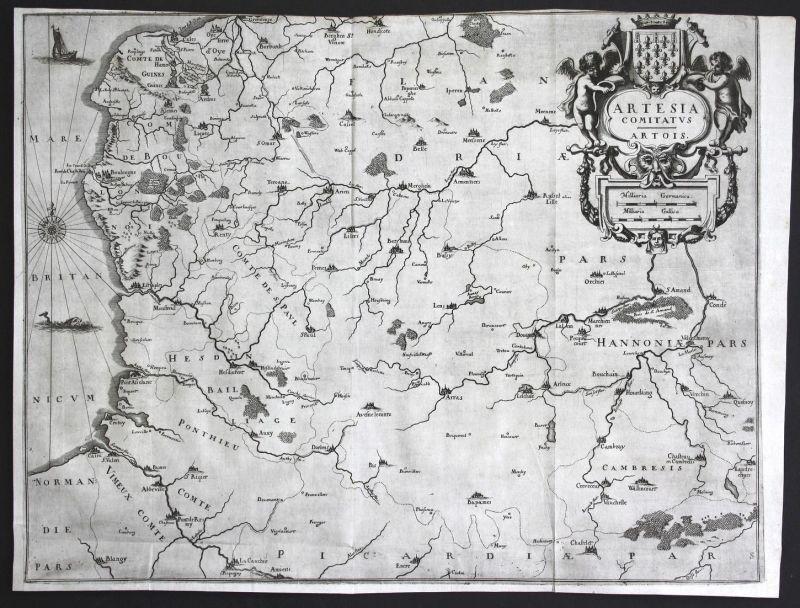 Artesia Comitatus Artois - Artois Comte d'Artois Nordfrankreich Northern France Nord de la France Frankreich K