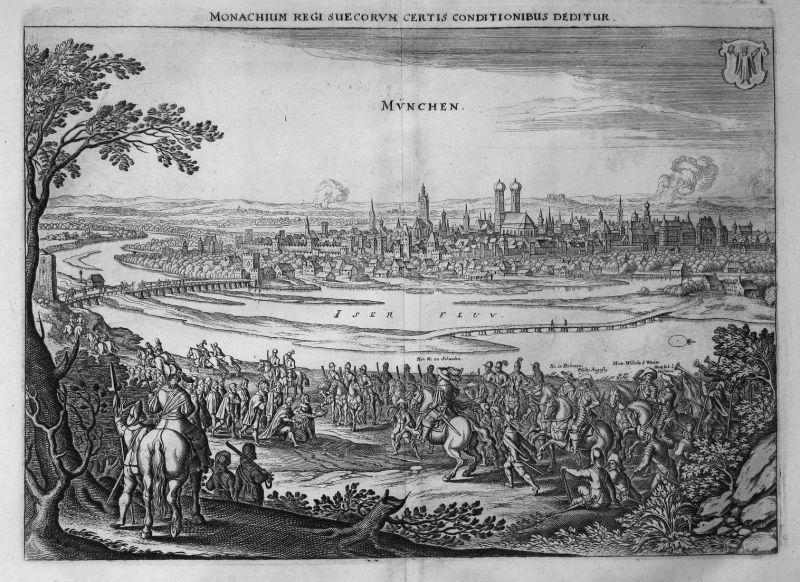 Monachium regi Suecorum certis conditionibus deditur. München - Gustav II. Adolf König Schweden Stadtschlüssel