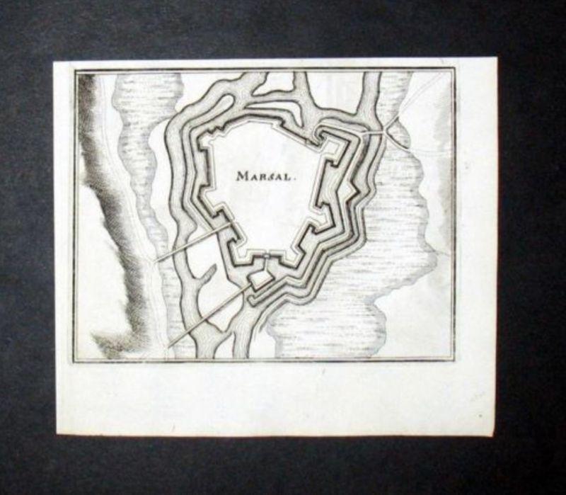 Marsal Moselle Frankreich France Kupferstich engraving gravure Merian