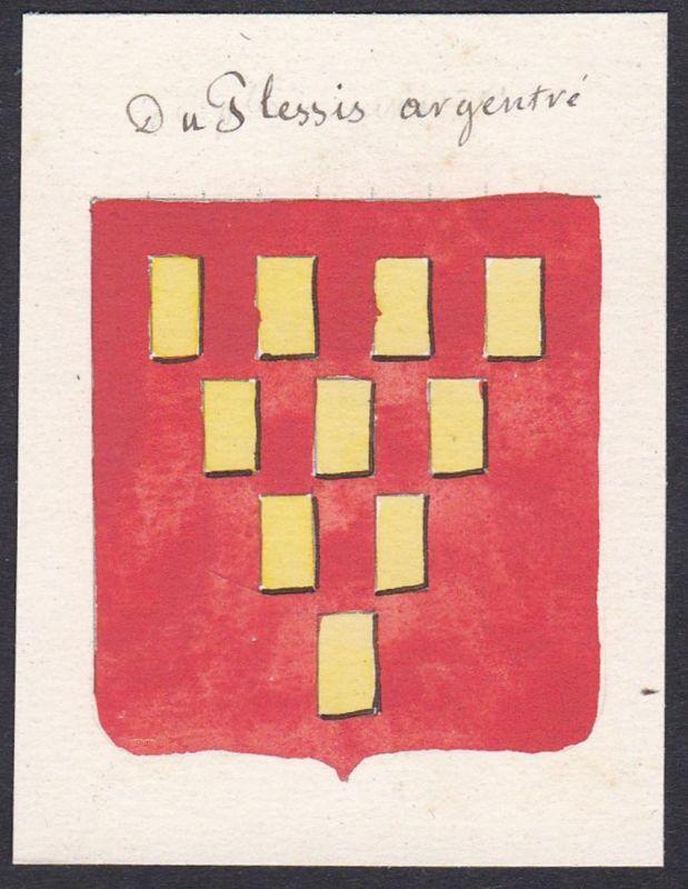 Du Plessis argentre - Charles du Plessis d'Argentré Frankreich France Wappen Adel coat of arms heraldry Herald
