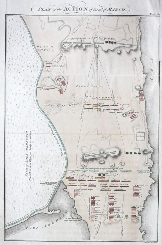 Plan of the Action of the 13th of March. - Alexandria Egypt Ägypten ...