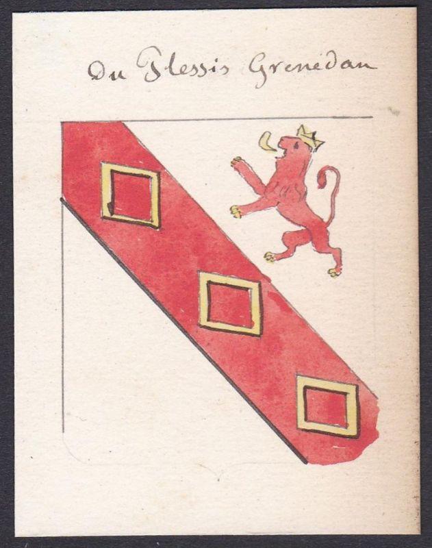 Du Plessis Grenedan - Plessis de Grenédan Familie family Frankreich France Wappen Adel coat of arms heraldry H