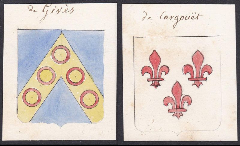 de Gives / de Cargouet - Gives Cargouet Familie family Frankreich France Wappen Adel coat of arms heraldry Her