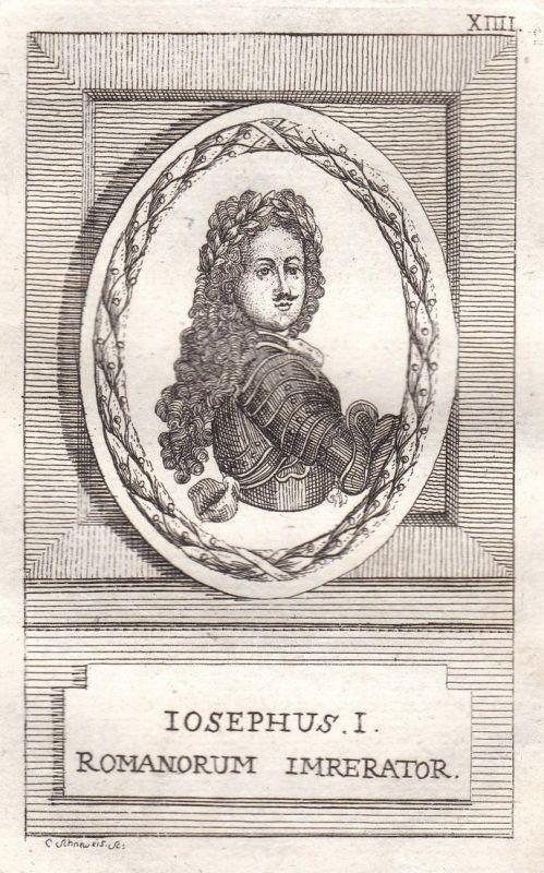 Iosephus I. - Joseph I. König king Böhmen Bohemia Kroatien Croatia Ungarn Hungary Portrait Kupferstich engravi