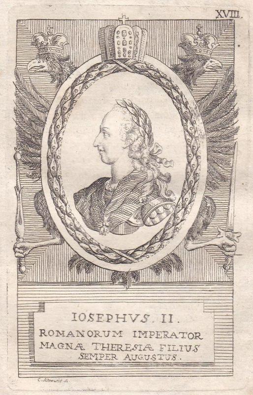Iosephus II. - Joseph II. Kaiser emperor Österreich Austria Portrait Kupferstich engraving