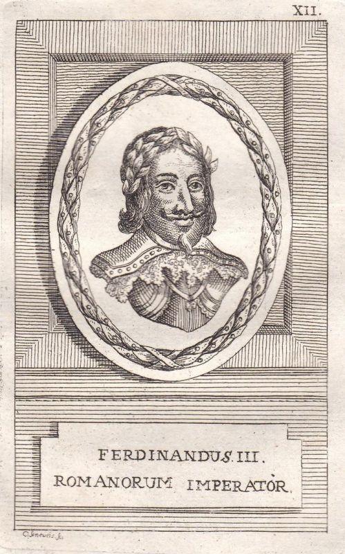 Ferdinandus III. - Ferdinand III. König king Kroatien Croatia Ungarn Hungary Böhmen Bohemia Portrait Kupfersti