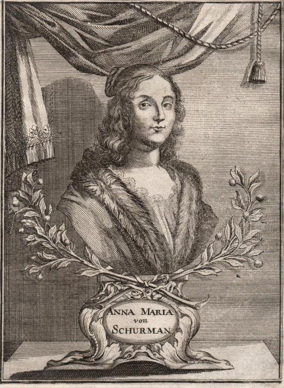 Anna Maria von Schürman - Anna Maria von Schürmann Portrait  Maler painter Universalgelehrte poet Niederlande