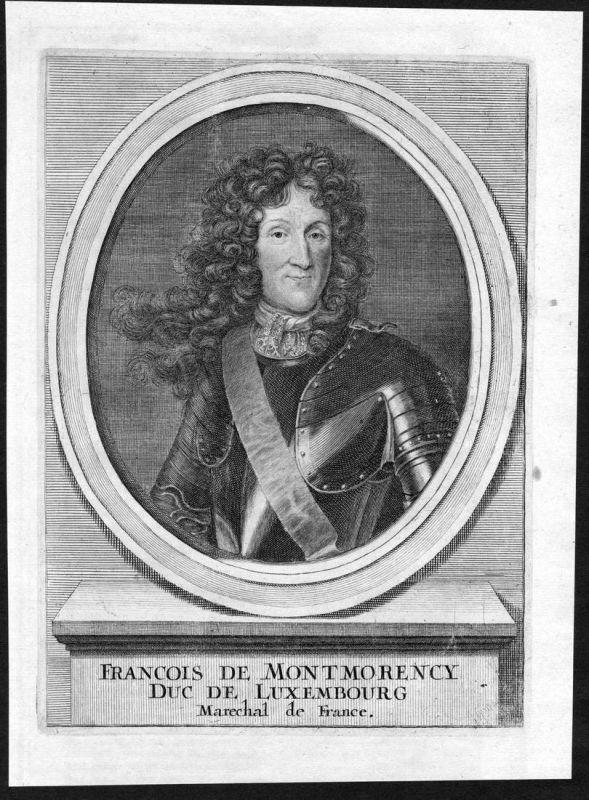 Francois de Montmorency - Francois-Henri de Montmorency-Luxembourg Portrait Kupferstich antique print