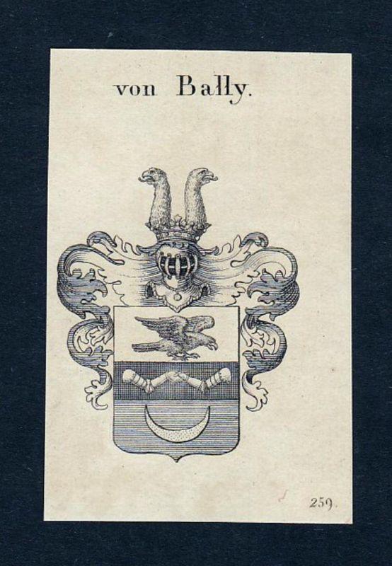 Von Bally - Le Bally Bandel Wappen Adel coat of arms heraldry Heraldik Kupferstich engraving