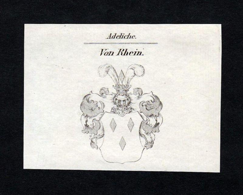 Von Rhein - Rhein Wappen Adel coat of arms heraldry Heraldik Kupferstich engraving