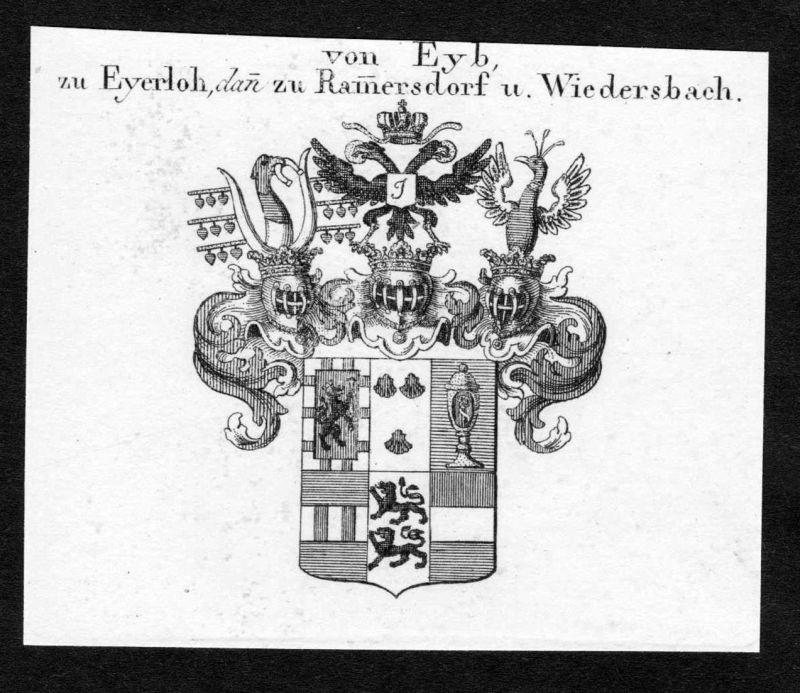 Von Eyb, zu Eyerloh, dann zu Ramersdorf u. Wiedersbach - Eyb Eyerloh Ramersdorf Wiedersbach Wappen Adel coat o