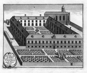 Conventius Spirensis - Augustinerkloster Speyer Augustiner Kloster Kupferstich antique print