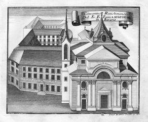 Conventus Ratisbonensis - Augustinerkloster Regensburg Augustiner Kloster Kupferstich antique print