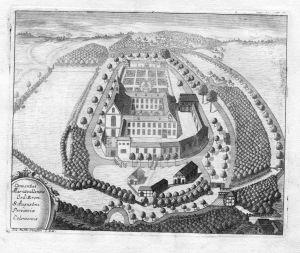 Conventus Mariaevallensis - Kloster Marienthal Hamminkeln Augustiner Kupferstich antique print
