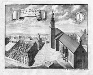 Residentia .. in Bettbrunn .. - Kloster Bettbrunn Augustiner Augustinereremiten Bayern Kösching Kupferstich an