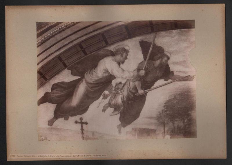 Roma - Palazzo Vaticano, Stanze di Raffaello. S. Pietro e S. Paolio, dettaglio dell'affresco S. Leone I che fe