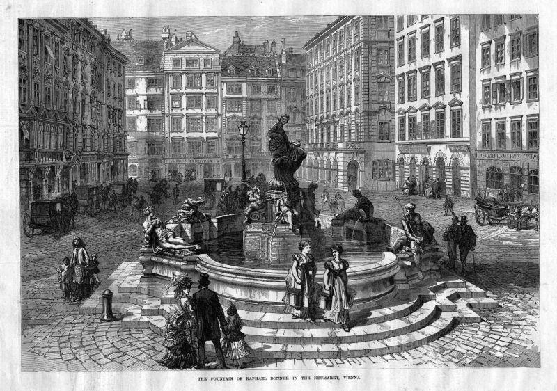 The Fountain of Raphael Donner in the Neumarkt, Vienna. / Wien / Österreich / Brunnen