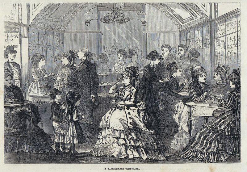 A fashionable conditorei. / Vienna / Wien / Österreich / Konditorei / Fashion