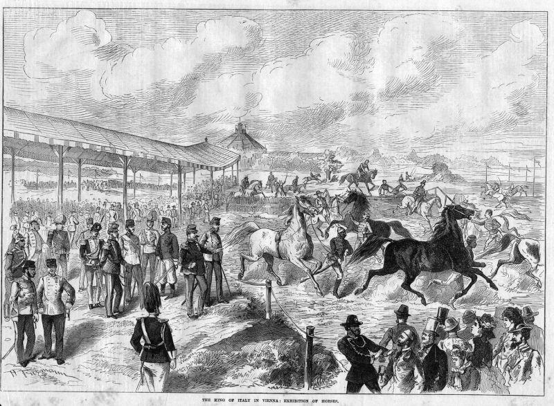 The king of Italy in Vienna: Exhibition of horses. / Italien / Italia / Wien / Österreich / Pferde