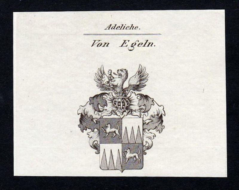 Von Egeln - Egeln Sachsen-Anhalt Wappen Adel coat of arms heraldry Heraldik Kupferstich engraving