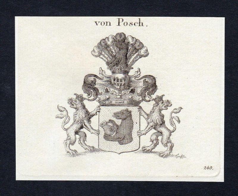 Von Posch - Johann Adam Posch Wappen Adel coat of arms heraldry Heraldik Kupferstich engraving