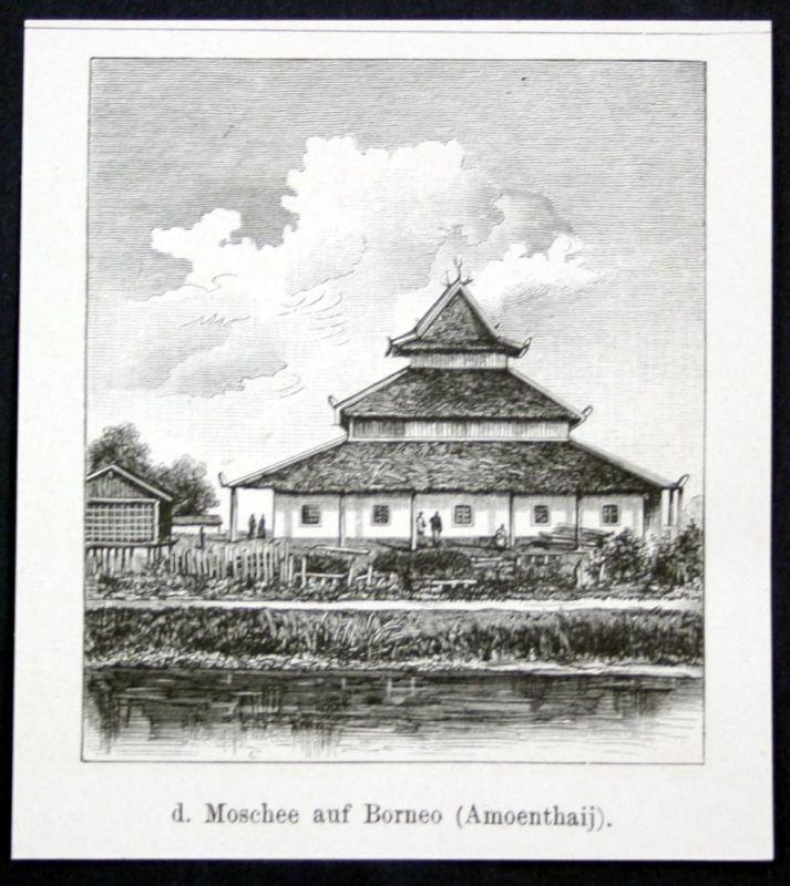 Moschee aus Borneo (Amoenthaij). / Asien / Asia / Amuntai / Indonesien