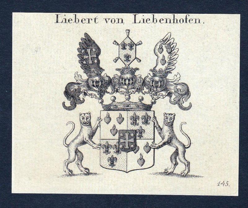 Liebert von Liebenhofen - Benedikt Adam Liebert Liebenhofen Wappen Adel coat of arms heraldry Heraldik Kupfers