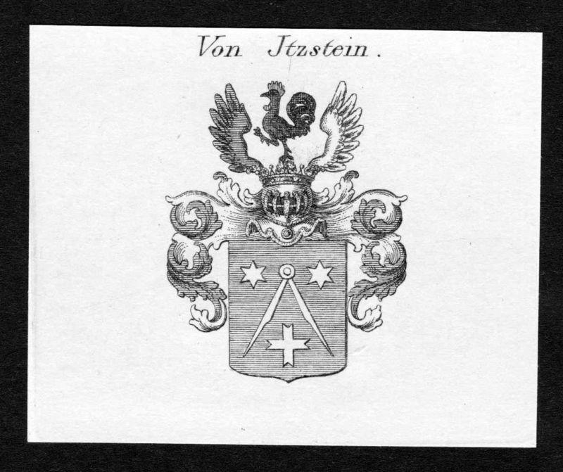 Von Jtzstein - Johann Adam Itzstein Jtzstein Wappen Adel coat of arms heraldry Heraldik Kupferstich engraving