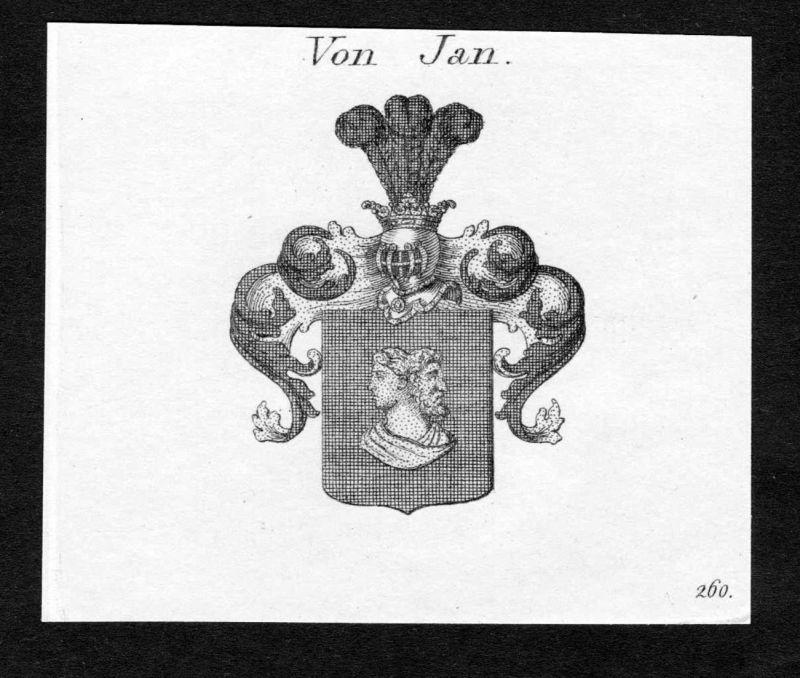 Von Jan - Jan Wappen Adel coat of arms heraldry Heraldik Kupferstich engraving